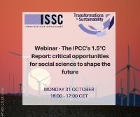 The IPCC's 1.5C Report: Critical opportunities for social science to shape the future