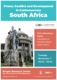 Power, Conflict and Development in Contemporary South Africa