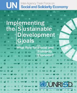 Implementing the Sustainable Development Goals: What Role for Social and Solidarity Economy?